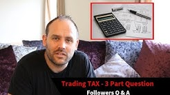 3 Part Question: Trading TAX for Sports Traders