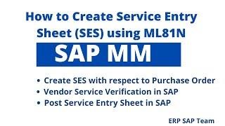 SAP MM modülünde servis girişi oluşturma