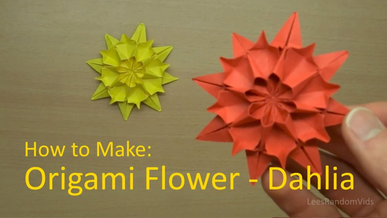 How to make an origami dahlia origami flower tutorial youtube how to make an origami dahlia origami flower tutorial mightylinksfo