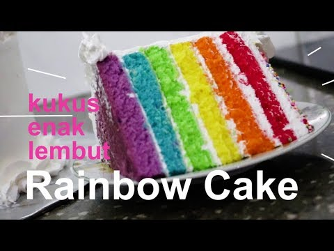 Rainbow Cake KUKUS | How To Make Rainbow Cake