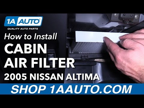 How to Replace Cabin Air Filter 02-06 Nissan Altima from YouTube · Duration:  4 minutes 12 seconds