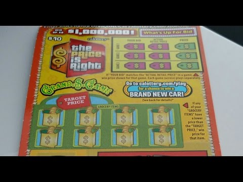 $10 The Price Is Right California Lottery Scratchers - Win up to $1M