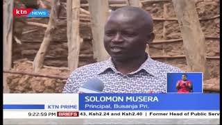 Bungoma pupils learning in open field after farmer chased them away from tree-shade