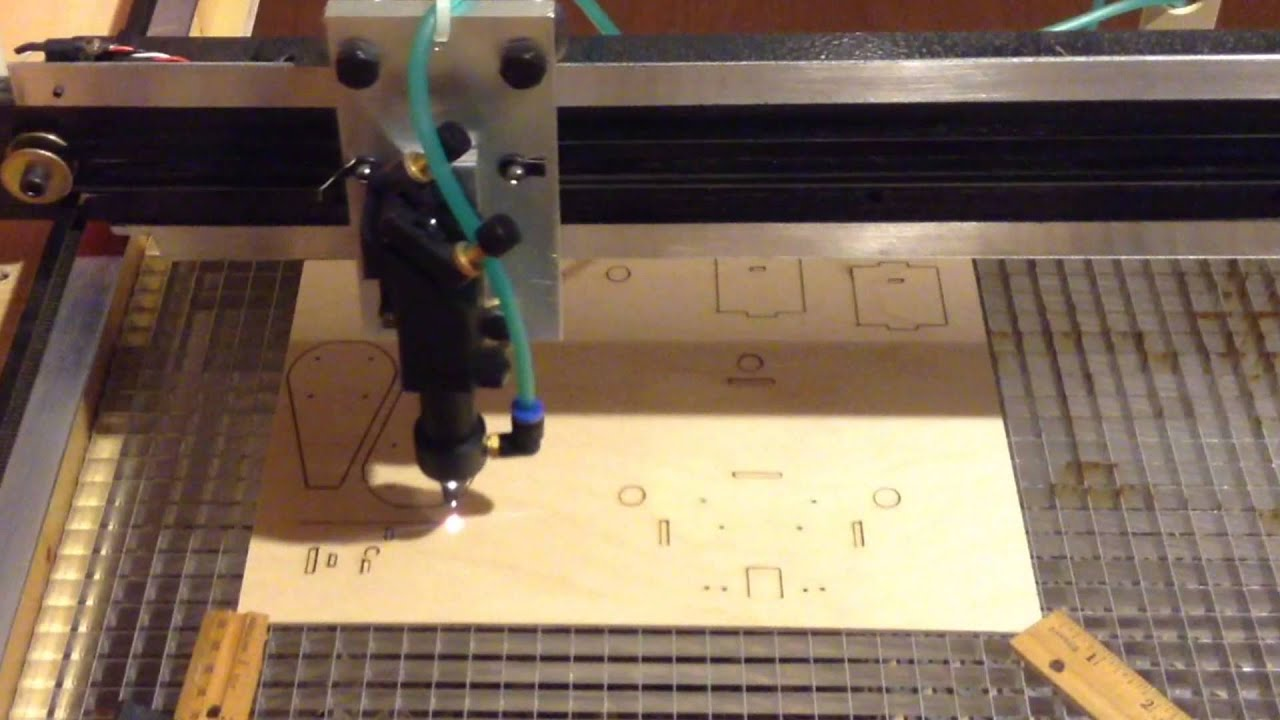 Laser cutting a new quad frame kit. DroneKits.US - YouTube