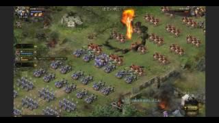 攻城掠地Lv133 陸遜戦です。 兵器攻撃3185 防御1644 兵力4464 関羽真駆...
