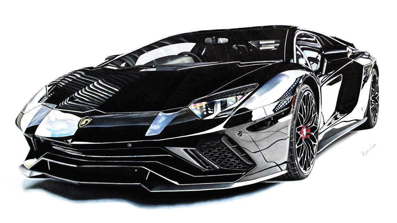 Lamborghini Aventador S drawing - YouTube