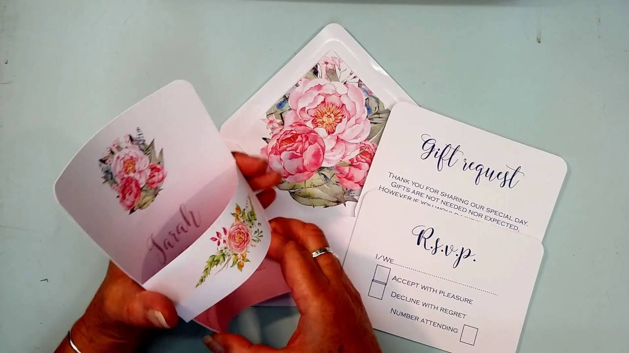 Show casing one of our ombre wedding invitations from Inspired by ...
