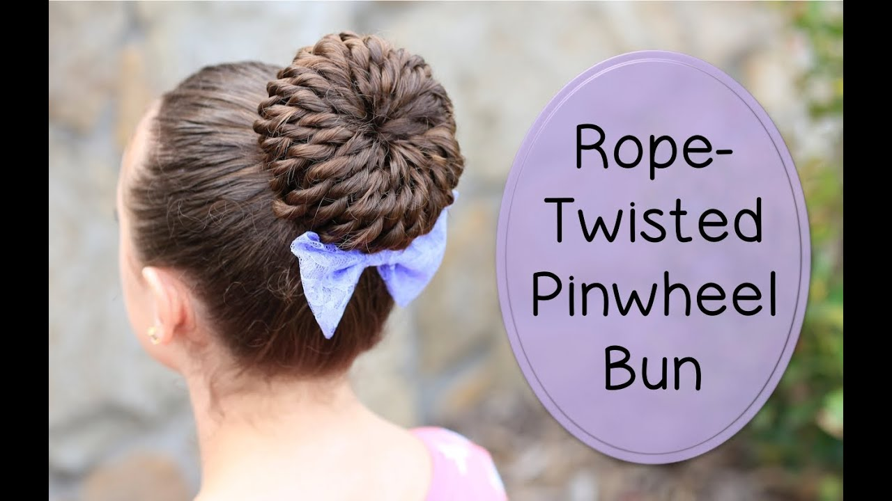 Hairstyles For Long Hair Cgh : Rope-Twisted Pinwheel Bun Prom Hairstyles - YouTube