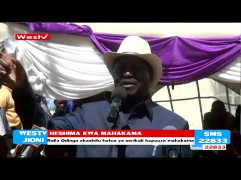 Raila Odinga aisuta serikali kwa kutoheshimu Mahakama