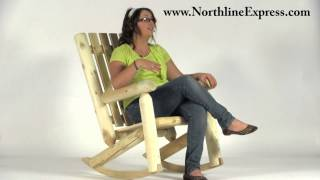 Rustic Natural Cedar Log High Back Rocker