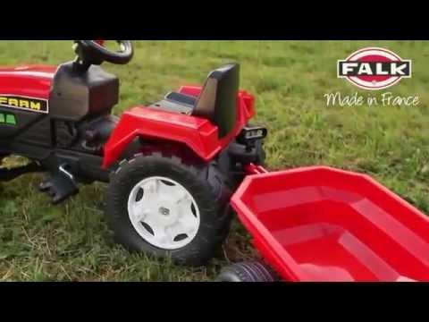 Трактор педальный с прицепом 130 см Falk FAL 872A