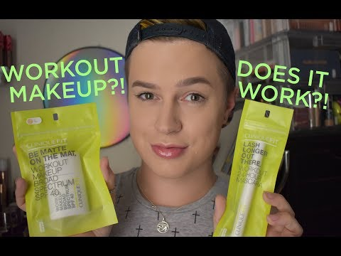 CLINIQUE FIT WORKOUT FOUNDATION & MASCARA WEAR TEST AND REVIEW