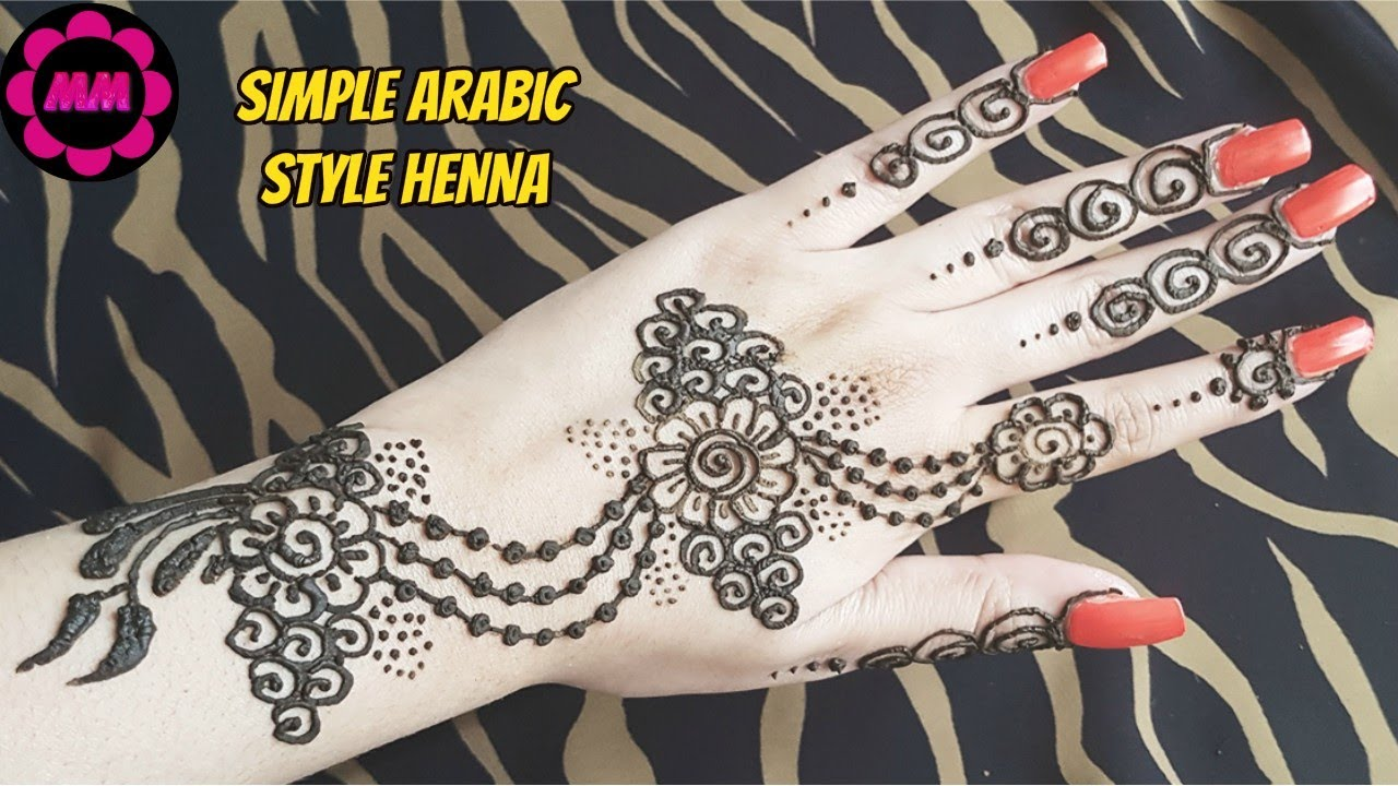 Mehndi Party Sign : Pretty arabic style mehendi easy quick party henna design
