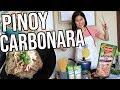 PINOY STYLE CARBONARA ( Luto Lutuan Time )  | Kris Lumagui