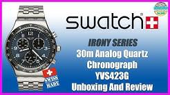 Some 80's Love! | Swatch Irony 30m Analog Quartz Chronograph YVS423G Unbox & Review
