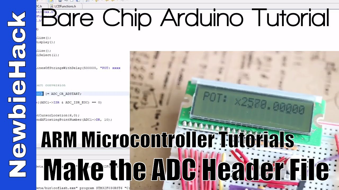 46  How to put the ADC code into a header file - - STM32 ARM Microcontroller