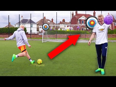 ULTIMATE FOOTBALL ACCURACY CHALLENGE   THEO VS CHARLIE #7