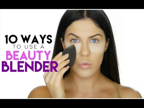 10 WAYS TO USE A BEAUTY BLENDER | BEAUTY BLENDER HACKS!!