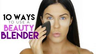 10 WAYS TO USE A BEAUTY BLENDER | BEAUTY BLENDER HACKS!!