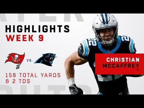 Christian McCaffrey's 158 Total Yards & 2 TDs vs. Bucs