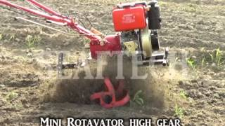 mini rotavator cultivator walking tractor agriculture equpment farmer punjab