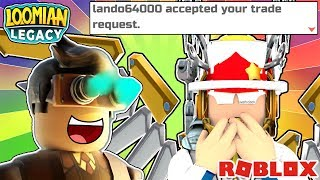 Lando64000 Gave Me A Rare Loomian On Stream!!! 😱 | Roblox Loomian Legacy