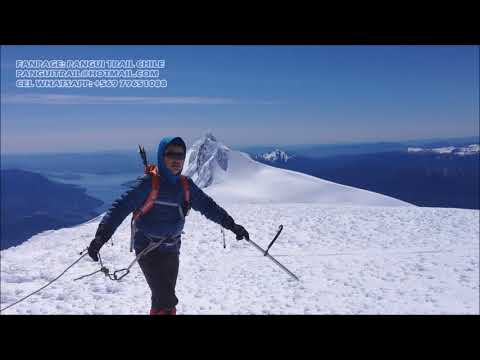 Guiding Mocho Choshuenco Volcano - Pangui Trail Chile Seassons 2017