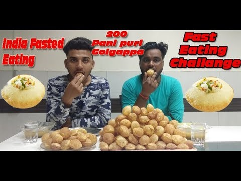 200 PANI PURI CHALLANGE | GOLGAPPA EATING CHALLANGE | Pani Puri challange | India Food Challange