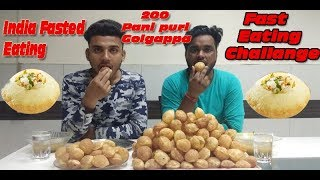 Food Challange 200 PANI PURI CHALLANGE | GOLGAPPA EATING CHALLANGE | Pani Puri challange | India