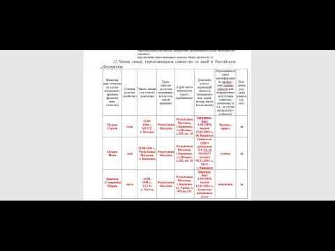 Подробное заполнение заявления на Государственную программу переселения в РФ.