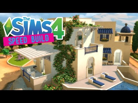 The Sims 4 -Speed Build- Santorini Villa! - No CC -