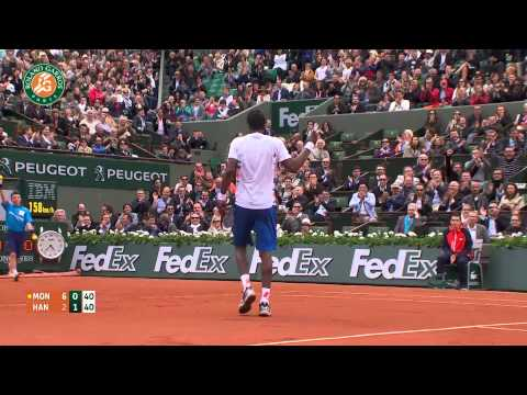 Roland Garros 2014 Tuesday Highlights Hanescu Monfils