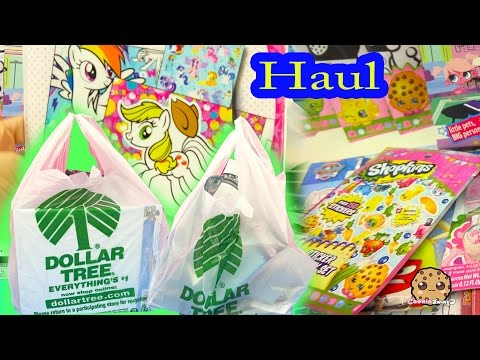 DOLLAR TREE $1 HAUL - Mermaid Dolls, Shopkins, My Little Pony + More Toys Cookieswirlc Video