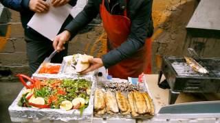 Istanbul Balik Ekmek - Вкуснятина - Скумбрия на гриле по турецки (как готовить) Fish Bread