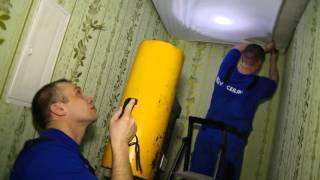 видео Натяжные потолки в квартире