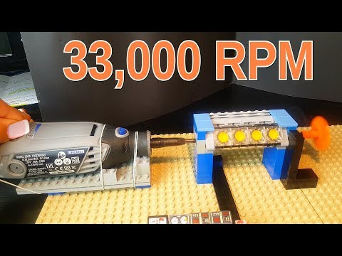Lego motor destroyed at highspeed (Dremel 33,000 RPM)