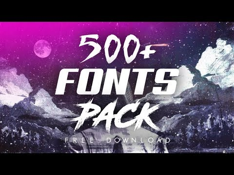 KUMPULAN 500+ Font Pack Keren | Free Download