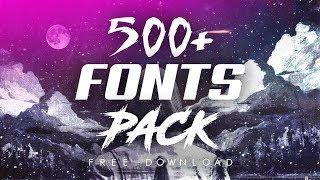 Gambar cover KUMPULAN 500+ font pack keren | Free download