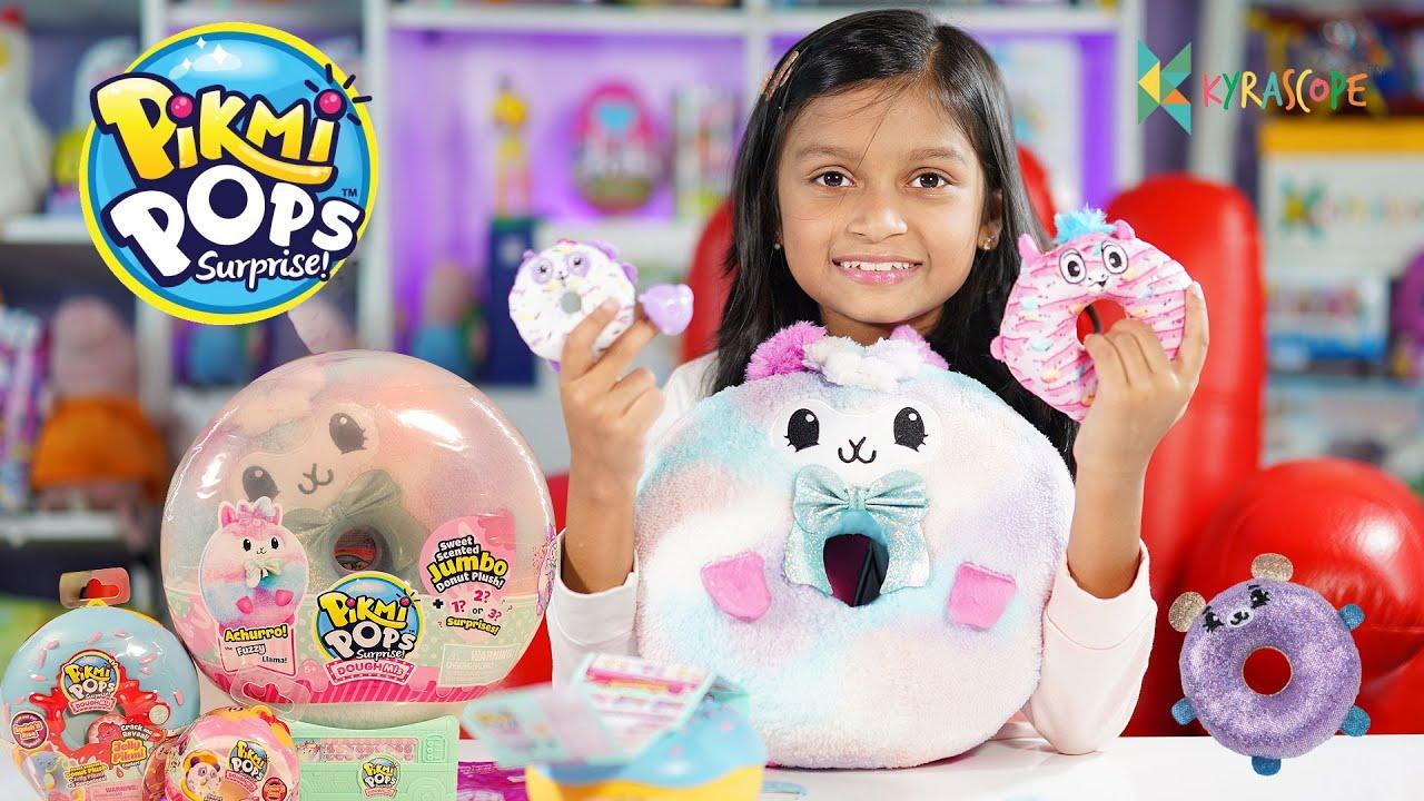 "UNBOXING ""PIKMI POPS"" Surprise Jumbo Donut Plush, Jelly Pikmi  #Toys #Reviews #Kyrascope #ToyReviews"