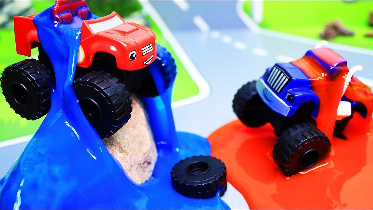 Вспыш и чудо машинки: Мультики с игрушками. Состязание в ...