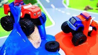 Вспыш и чудо машинки: Мультики с игрушками. Состязание в слизи. Машинки Вспыш. Мультфильмы для детей