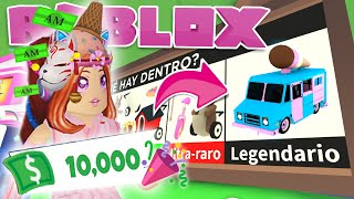 ICE CART *LEGENDARY* 🍦+ GET 10.000 BUCKS *FREE* ADOPT ME ROBLOX IN SPANISH 💖