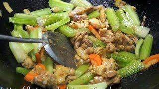 香港食譜 : 西芹炒雞柳