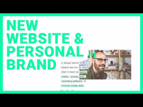 New Website and Personal Brand ... ✏️ 🖥️