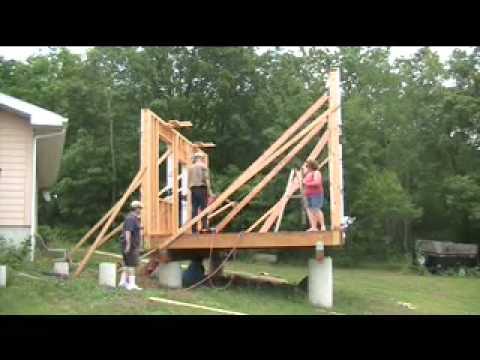Wall Jacks For Framing homemade wall jacks - youtube