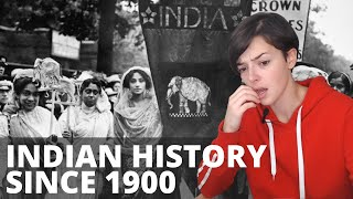 India - Summary of history since 1900 | REACTION