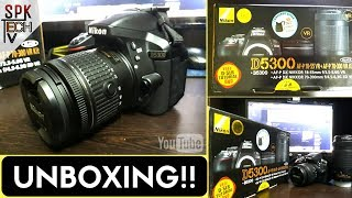 |HINDI| Unboxing my new DSLR Camera - Nikon D5300[Dual kit lens] (With sample pictures)