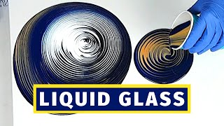 TriArt Liquid Glass - Testing as a POURING MEDIUM For Ring Pour Swirls |  Acrylic Pour Painting