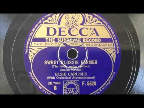 """Elsie Carlisle - """"Sweet Flossie Farmer"""" (1935)"""