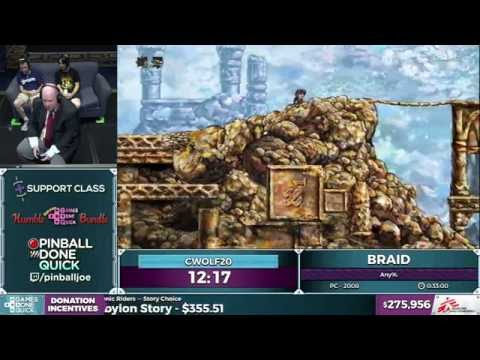 Braid by cwolf20 in 27:12 - SGDQ 2016 - Part 70